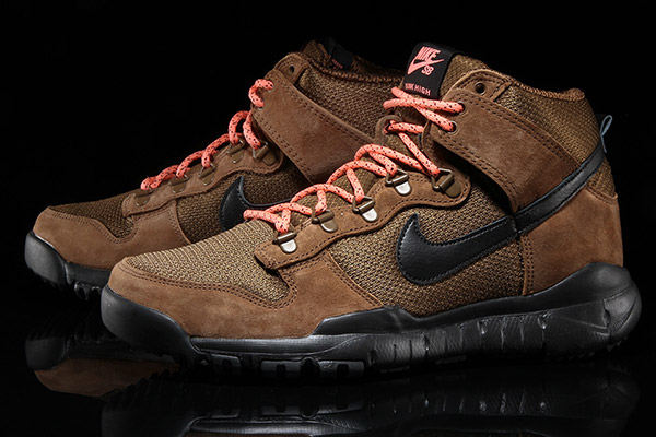 NIKE SB DUNK HIGH BOOT MILLITARY BROWN 536182-203