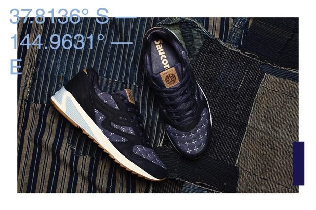 UP THERE x SAUCONY GRID 8000 SASHIKO