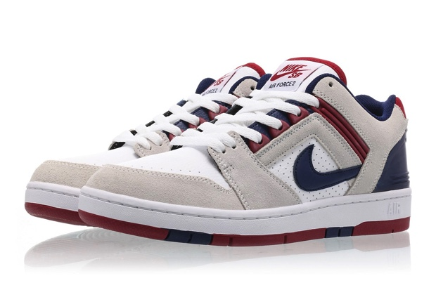 NIKE SB AIR FORCE 2 LOW 'WHITE/BLUE VOID/RED CRUSH'