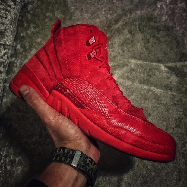 AIR JORDAN 12 RETRO RED SUEDE