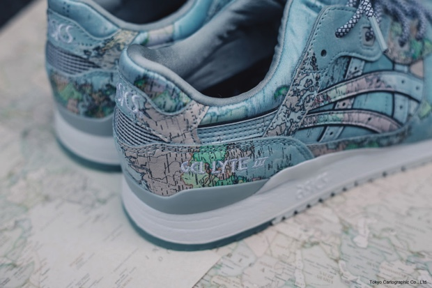 ATMOS x ASICS TIGER GEL LYTE 3 WORLD MAP