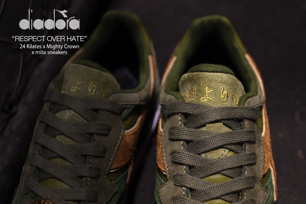 24 KILATES x MITA SNEAKERS x MIGHTY CROWN x DIADORA N9002 RESPECT OVER HATE